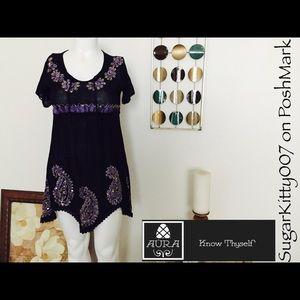 Dresses & Skirts - Black Boho Chic Tunic Style Mini Sun Dress